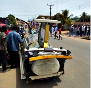 Talented Anambra Man Constructs Unusual Car That Looks Like An Airplane, Drives It Around Town (Photos)