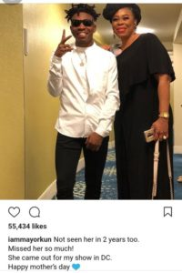 AtLast! Actress Toyin Adewale Reunites With Her Son, Mayorkun After 2 Years (Photo)