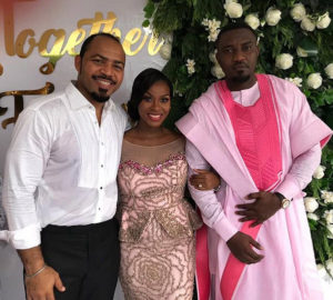 """""""Perpetual Bachelor Finally Weds"""": Ramsey Nouah Pictured With John Dumelo & New Wife"""