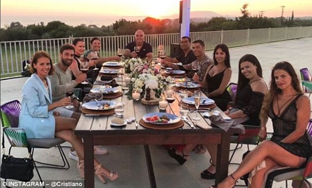 See What Ronaldo Was Spotted Doing With Family And Friends After Completing Juventus Move (Photos)