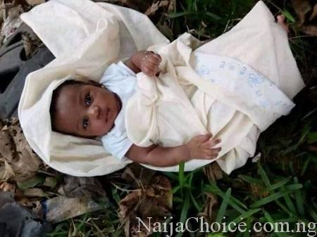 Mother Abandons Her Cute Baby In A Bush… Read The Note She Left Behind (Photos)