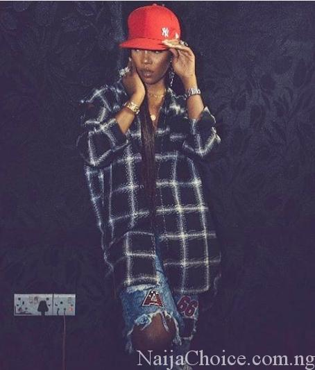 Natural Tomboy: Tiwa Savage Shows-off Hiphop Swag In New Stylish Photos