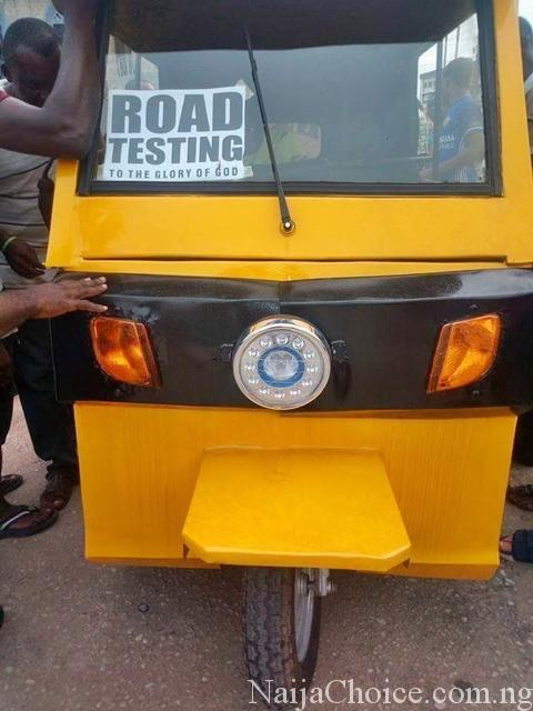 Photos Of Made In Aba Keke Napep That Doesn't Use Fuel Or Oil Emerges Online