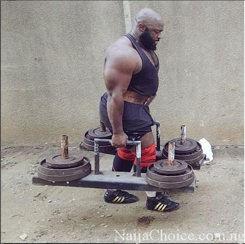 Photos Of Nigeria's Strongest Man, Fadesire As He Reveals The Secret Of His Success