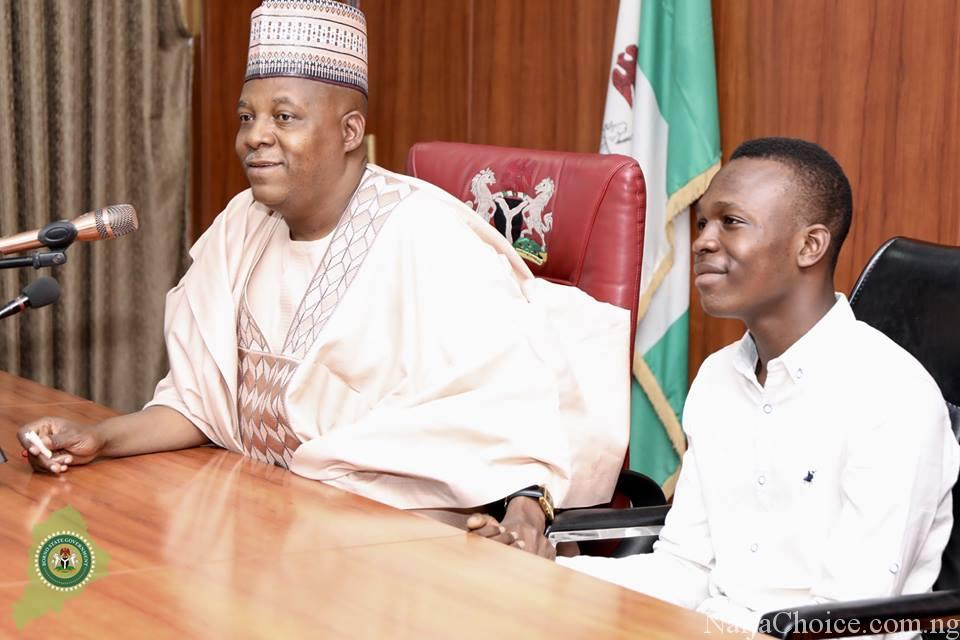 Teenager Who Scored Highest In JAMB Honoured By His Governor As He Gets N5m Full Scholarship (Photos)