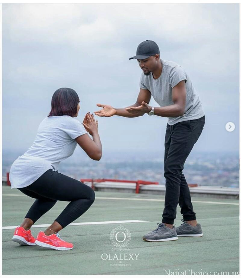 Man Trains His Fiancee During Exercise In Pre-Wedding Photos