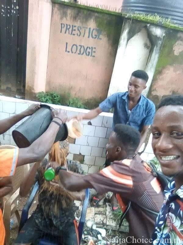 Opps: Students Drink Muddy Water To Celebrate Their Graduation (Photos)