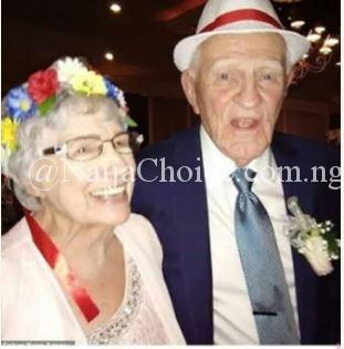 93-Year-Old Grandmother Marries 86-Year-Old Younger Lover In US (Photos)