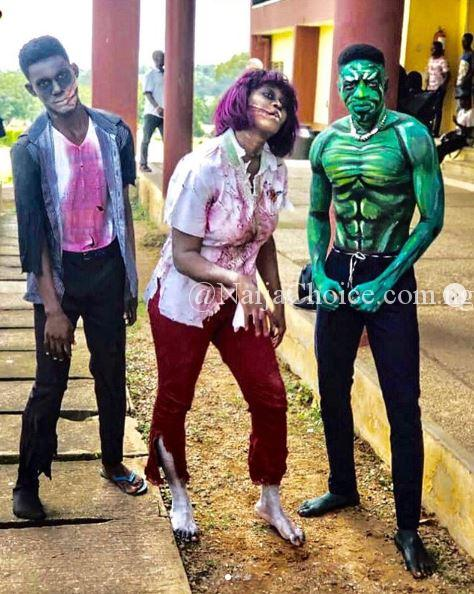 Scary And Exciting Halloween Photos Of FUNAAB Students Surface