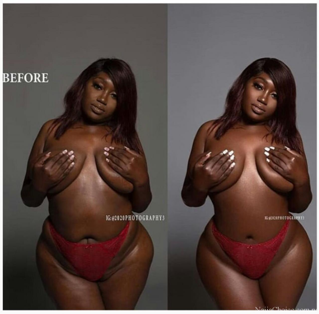 See The Amazing Transformation Of What Photoshop Did To This Lady [Photo Inside]