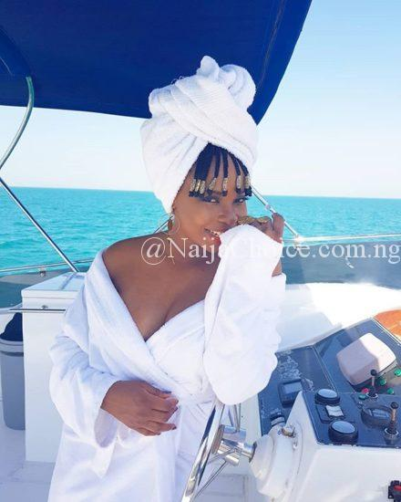 Yemi Alade Bares Cleavage As She Shares Sexy Photo On Sea Ride