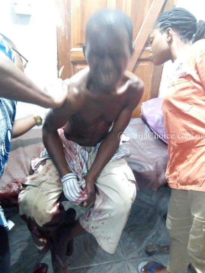 Angry Woman Brutally Stabs Man In Delta (Graphic Photos)