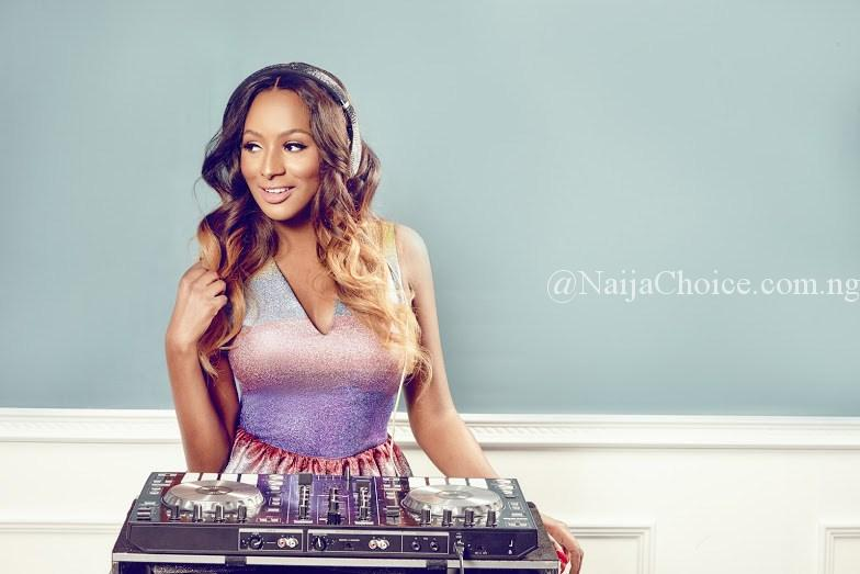 Proud Parents: DJ Cuppy's Billionaire Dad And Her Mum Paint Portraits Of Her On Her Birthday