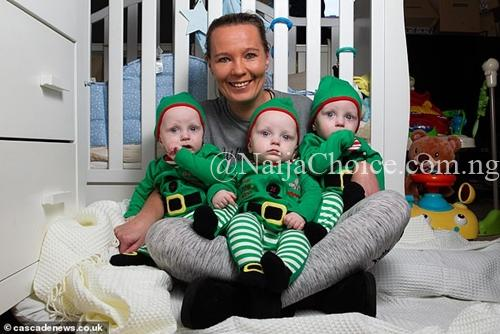 Mother-of-four Who Wanted One More Baby, Surprised After Giving Birth To Triplets (Photos)