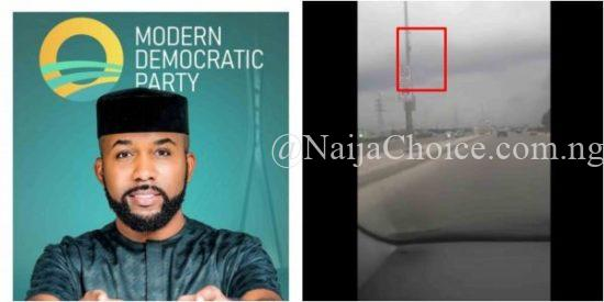 Banky W's Campaign Posters Allegedly Removed By Opponents