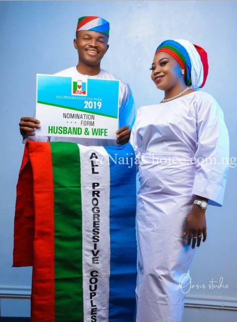 Beautiful APC Themed Pre-wedding Photos Of A Nigerian Couple