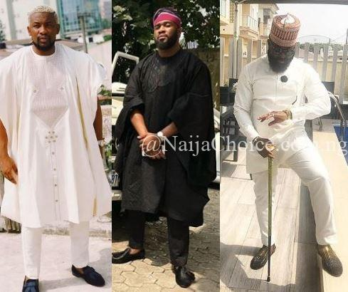 First Photos! Celebrities Step Out In Style For Adekunle Gold And Simi's Traditional Wedding