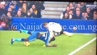 Football Or Wrestling? Watch As Player Performs WWE Move On Opponent In EPL Match