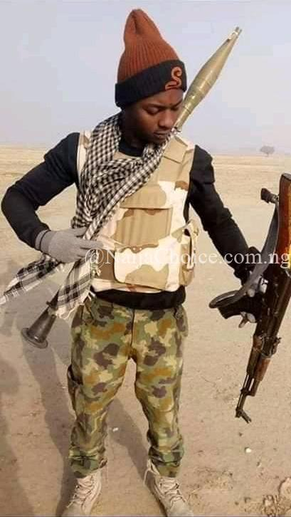 Oh No! Nigerian Soldier Gets Killed In Battlefield While Making Plans To Travel Abroad (Photos)