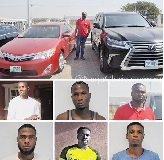 Photo Of 6 Yahoo Boys Nabbed In Abuja With 2 Bugatti, Porsche, Benz And N300m Duplex