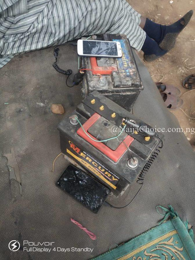 See How This Man Now Charges His Phone Due To Incessant Power Outage In Katsina (Photos)