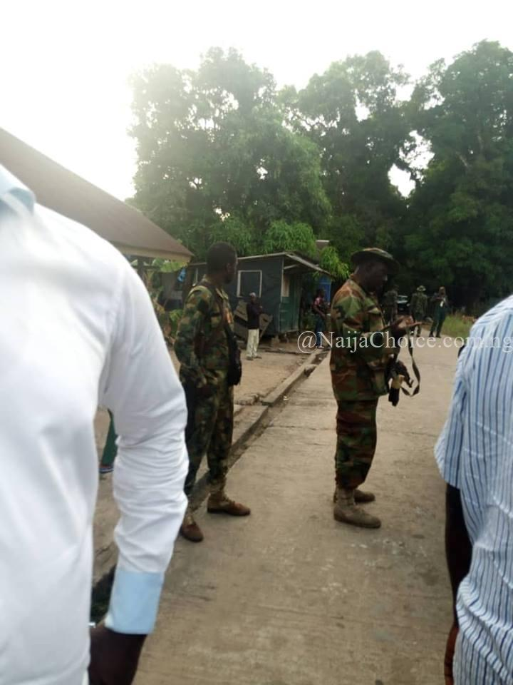 Chairman Escapes Mishap As Soldiers Invade His House During PDP Meeting (Photos)