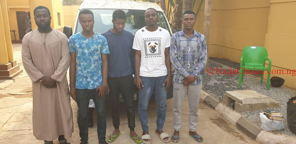 Faces Of 5 Yahoo-Boys Arraigned In Court By EFCC (Photo)