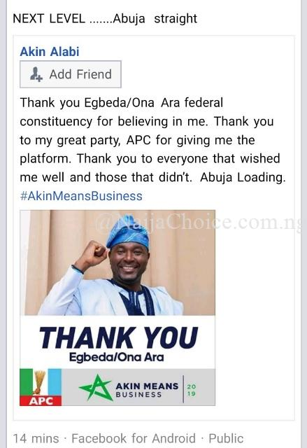 Nairabet Owner, Akin Alabi Wins National Assembly Election