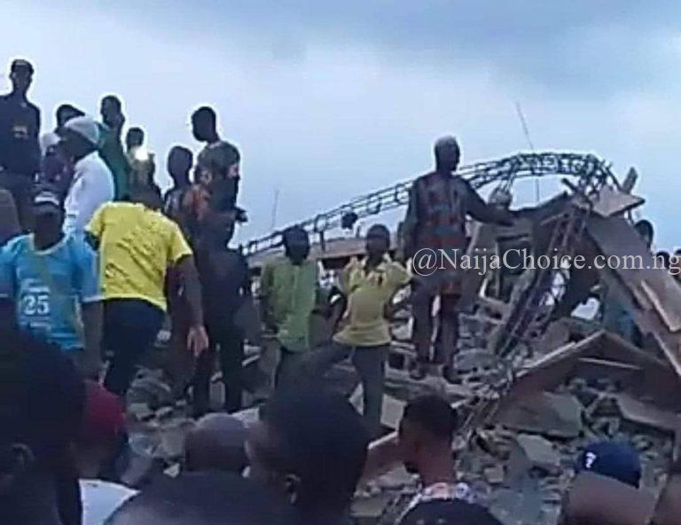 Three Storey Building Collapses In Ibadan! Many Feared Trapped