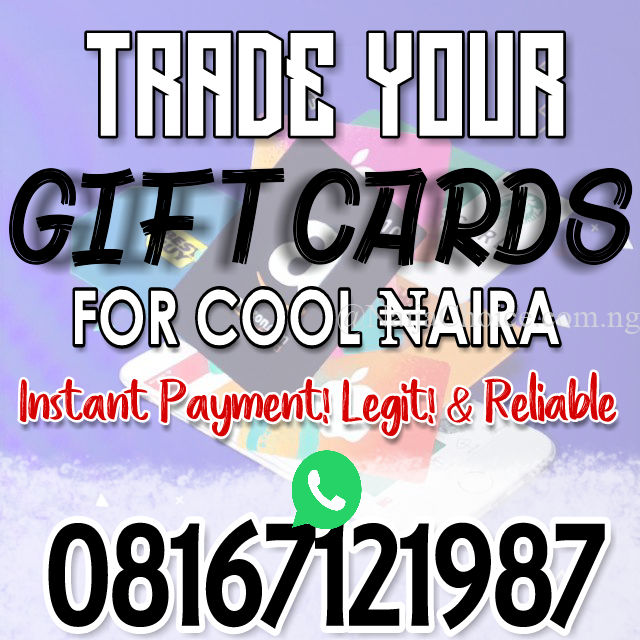 Trade Your Gift Cards For Cool Naira