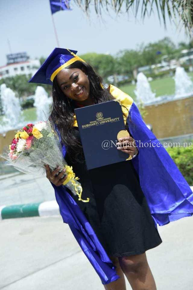 Young Nigerian Woman Breaks Record In Indian University After Bagging A First Class In Pharmacy (Photos)