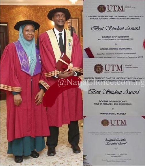 Nigerian Couple Emerge Best Students As They Bag Their PhDs On The Same Day (Photo)