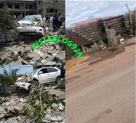 Oh No! Man Crashes Into Fence While Being Chased By SARS (Photos)