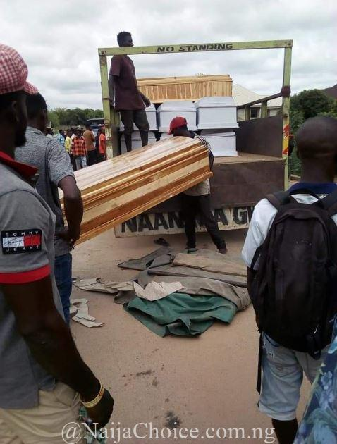 Fear Grips Benue Residents As Unknown Men Storm Makurdi With 20 Coffins (Photos)