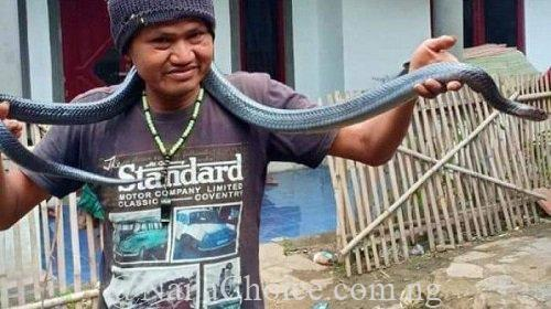 Horror As Man Is Strangled To Death By His Pet Python While Giving It A Bath (Photo)
