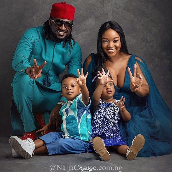 Singer, Paul Okoye's twin babies, Nadia and Nathan Okoye, have turned 2 years old.   The boy and girl who were born on July 8th 2017, tuned 2 years old today and their parents celebrated them in a sweet way.   The singer, while wishing them a happy birthday via his Instagram page, shared lovely new photos of them.    See more photos he shared below: