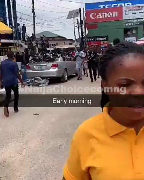 Iphone 11 Thief Caught At Computer Village, Ikeja, Receives Multiple Slaps