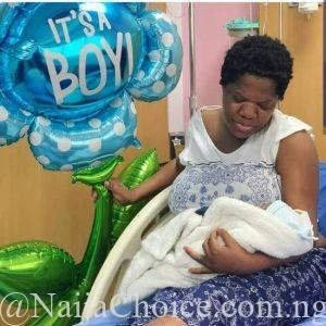 Toyin Abraham disclosed that she had her baby in Lekki hospital