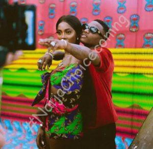 Wizkid Does 'Sign Of The Cross' After Tiwa Savage Asked Him To Grab Her Butt || Watch Video